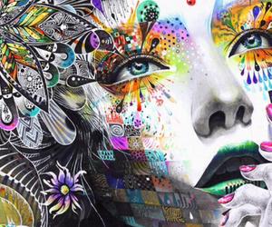art, blue eyes, and beautiful image