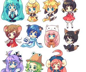 vocaloid and chibi image
