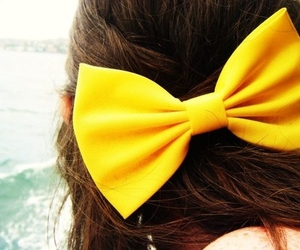 bow, hair, and girl image