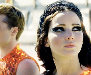 catching fire, the hunger games, and katniss image