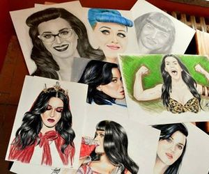 drawing, katy perry, and roar image