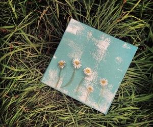 art, creative, and daisies image