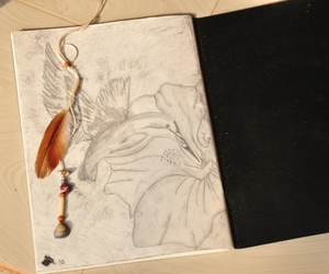 art, draw, and feather image