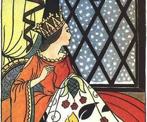 Queen, sewing, and snow image