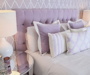 bed, pillows, and purple image