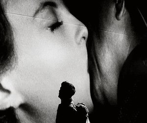 atonement, kiss, and black and white image