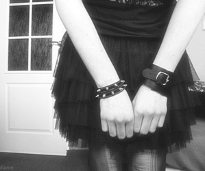 black, black and white, and emo image