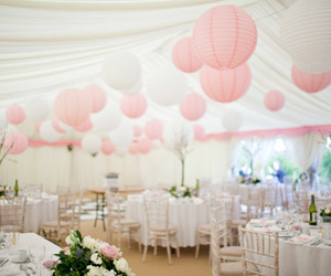 pink, wedding, and party image