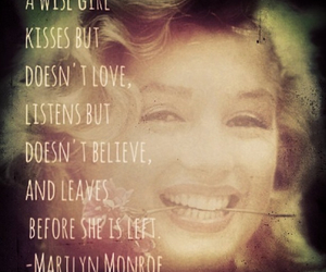 Marilyn Monroe, quotes, and wisdom image