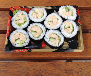 sushi, yummy, and takeaway image