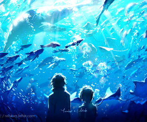 animals, anime, and blue image