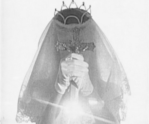 cross, veil, and crown image
