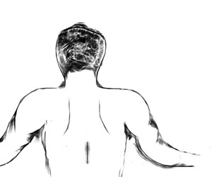 back, boy, and paint image