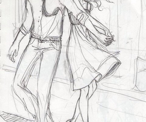 couple, sketch, and cute image