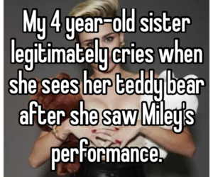 watching, not mileys problem, and she shouldn't have been image