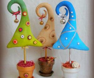 buttons, decoration, and christmas tree decoration image