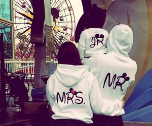 disney land, matching, and outfits image