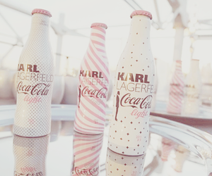 pink, coca cola, and karl lagerfeld image