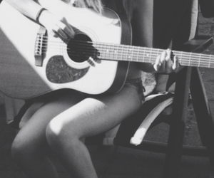guitar, music, and playing image