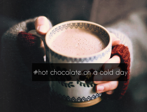 cold, winter, and hot ​chocolate image