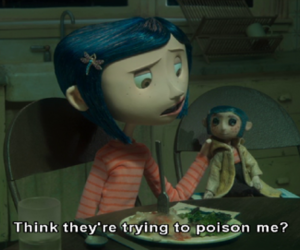 coraline, movie, and poison image