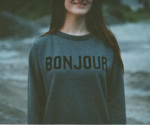 girl, bonjour, and indie image