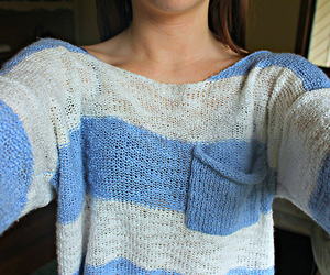 fashion, blue, and sweater image