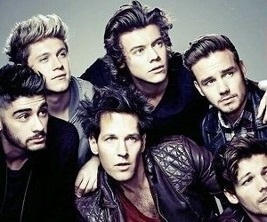 one direction, header, and model image