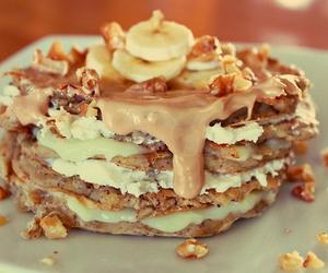 banana, pancakes, and caramel image