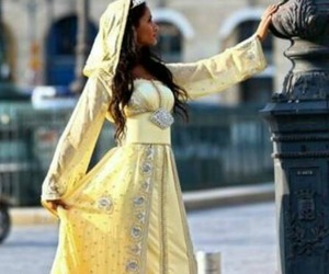 morocco, yellow, and caftan image