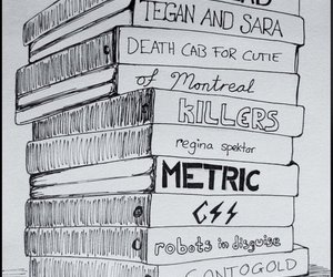 music, metric, and radiohead image