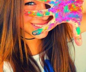 girl, colors, and smile image