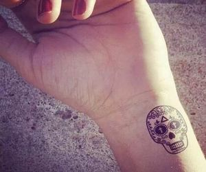 skull, tattoo, and tatoo image