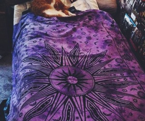 sun, bed, and hippie image