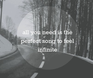 quote, infinite, and black and white image
