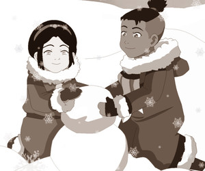 avatar, snow, and toph image