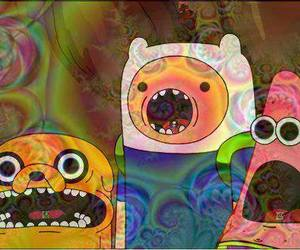 adventure time, JAKe, and patrick image