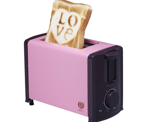 pink, toaster, and love image