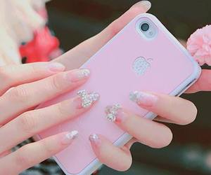 apple, manicure, and nails image