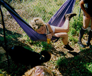 girl, drunk, and hammock image