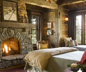 fireplace, room, and bedroom image
