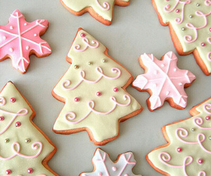 christmas cookies, food, and snacks image