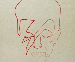 art, david bowie, and portrait image