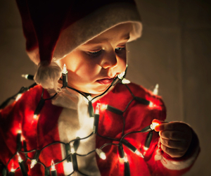christmas, light, and baby image