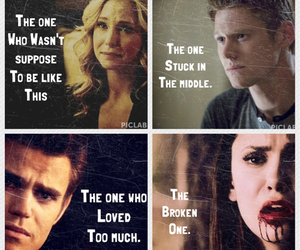 tvd, elena gilbert, and stefan salvatore image