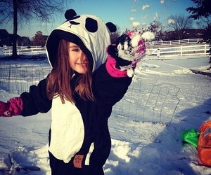 girl, cute, and snow image