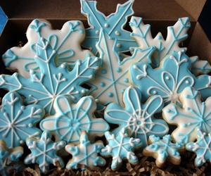 blue, christmas, and christmas cookies image