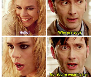 doctor who, rose tyler, and bad wolf image