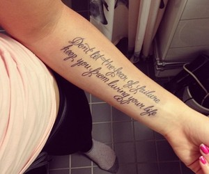 tattoo, quote, and life image
