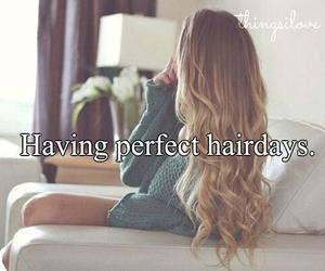 hair, girl, and perfect image